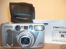 SAMSUNG FINO 130 DLX 35MM FILM CAMERA~38-135MM SHD LENS LENS~FLASH OPTIONS  N75