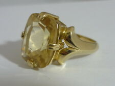 Really Stunning, Large & Unusual Tibetan Sunstone 9K Gold Ring Size O