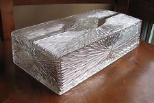 Vintage Celebrity Lucite Plastic Tissue Kleenex Box Starburst design Atomic