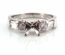 0.81 CT Natural diamond semi mounth ring/setting only VS1/G 950 Platinum