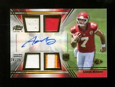 Aaron Murray 2014 Topps Prime Level V Quad Relic Auto Jersey RC 24/25 UGA Mint