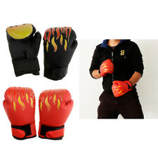 2 Pair Kickboxing Fighting Boxing Gloves for Kids Age 4-12 Boys/Girls Flame