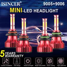 4SIDES 9005 9006 CREE LED Headlight Combo Kits Bulb 6000K White Hi-Low Beam Lamp