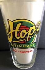 HOPS RESTAURANT BAR & BREWERY Pint Beer Glass