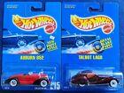 S26-Hot Wheels Blue Card- Auburn #215 & crackle red Talbot Lago #163 w/whitewall