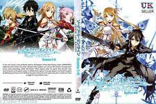 Anime Sword Art Online Complete Season 1 & 2 ENGLISH DVD Box Set - UK DISPATCH