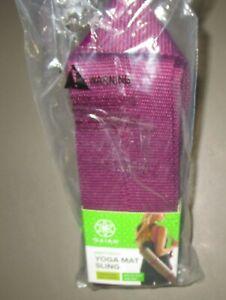 GAIAM~Purple Easy Cinch Yoga Mat Sling