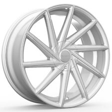 "4-20"" Inch Rosso Insignia 20X8.5 5x108/5x114.3 +38mm Silver/Machined Wheels Rims"