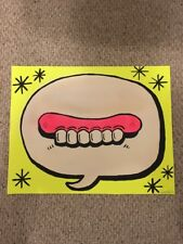 """Sweet Toof  """"Speech Bubble Gums""""  Hand Painted Poster-Banksy, Invader, POW, Dran"""
