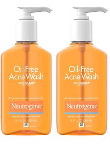 2 pack Neutrogena Oil-Free Acne Wash 9.1oz each