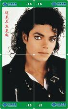 Michael Jackson 4 telefoonkaarten/télécartes  (MJ57-77 4p)