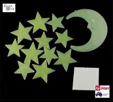Glow In The Dark Moon Stars  Luminous Fluorescent Stickers Decal