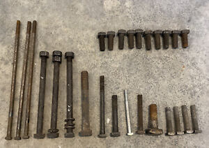 Antique / Vintage Square Head Machine Nuts and Bolts, Variety