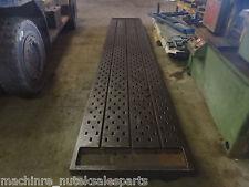 "208"" x 36""x 8"" Steel Acorn Welding T-Slot Table Cast Iron Layout Plate Fixture"