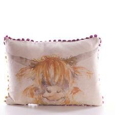 Highland Cow Mini Cushion by Voyage Maison