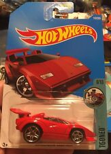 LAMBORGHINI COUNTACH Red tooned 2017 Hot Wheels 1:64 car Mattel 152/365 New