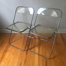 2 chaise pliante Plia design Giancarlo Piretti pour Anonima Castelli 1970