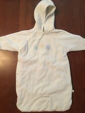 Koala Baby 6-9 Month Warm Carseat Insert With Hood White Unisex Button Hand Cove