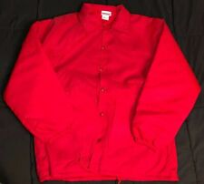 Nwot Mens Vtg Hartwell Nylon Jacket w/ Faux Fur Liner, Snap Button, Sz: Lg 42-44