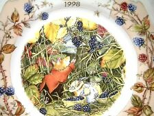 """Royal Doulton Brambly Hedge 8"""" PIASTRA 1998 annuale"""