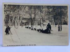 At The Winter Carnival Gorham N.H. Dog Sleigh Races Feb 23,1920 Postcard