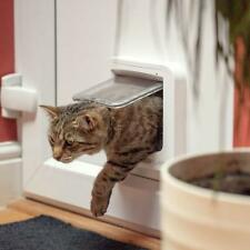 White Microchip Cat Flap Safe Locking Door Keep Out Foreign Pets Petsafe Lock