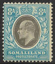 Somaliland 1911 grey-black & pale blue sg 22a MH