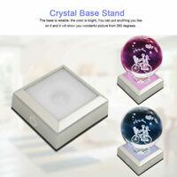 USB Base per espositore in cristallo colorato LED per display a cristallo