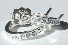 boucles d'oreilles percées bijou couleur or blanc anneaux cristal diamant *5250