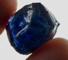 16.5Ct Heated Blue Sapphire Facet Rough Specimen Glass Filled YBB7806
