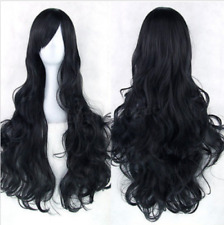 80cm Women Fashion Lady Anime Long Curly Wavy Hair Party Cosplay Full Wig