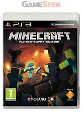 MINECRAFT - PLAYSTATION PS3 BRAND NEW FREE DELIVERY