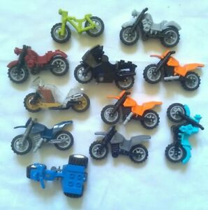 11 PIECES Lego motorcycle Lot minifigure accessories dirtbike ALL IN PICS