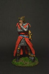 Tin soldier miniature King Edward Plantagenet, 1298 54 mm