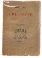 LE MOYNE DE LA BORDERIE-HISTOIRE DE BRETAGNE 6 VOLUMES BROCHES-LIVRE ANCIEN RARE