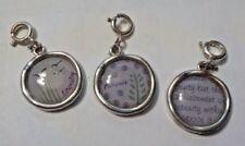 Vintage Set Of 3 Serenity & Patience Charm Pendants