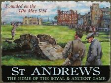 St Andrews Golf Club Course Sport Game Scotland Old Picture Small Metal/Tin Sign