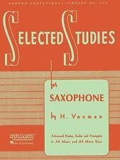 Rubank Selected Studies Saxophone Etudes Advanced Music Lessons Sax Book
