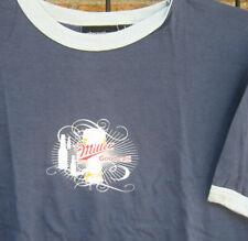 Retro (L) Miller Lite  Beer T Shirt surf ringer vintage LG Alternative Apparel