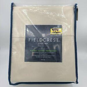 Fieldcrest Full 700TC Supima Classic Hemstitch Bed Sheet Set | Sea Salt