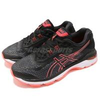 Asics GT-2000 6 D Wide Black Flash Coral Women Running Shoes Sneakers T856-N001