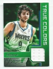 RICKY RUBIO 2012-13 Prestige True Colors Game Used GU JERSEY Basketball Card #4