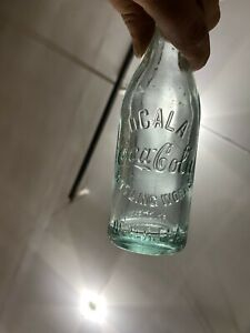 1905-1915 Straight Sided Blue Aqua Ocala Florida Coca Cola Bottle Coke