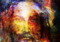 Amazing Jesus Christ Poster Print Size A4 / A3 Christian Art Poster Gift #8451