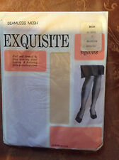 Vintage Exquisite lt beige nude thigh high stockings size 10