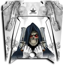 Polaris RZR XP 900 800 570 UTV Graphics Hood Decal 2011-2014 Grim Reaper White