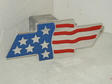 chevy bowtie flag,hitch cover,chevy,chevy usa flag