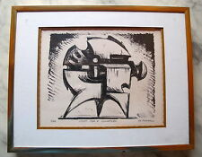 Fine Art Lithograph Abstract Sculptural Study Signed 3/20 George Koras Greek