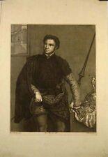 Eau forte de Verkruys d'ap Bordone, Portrait de noble
