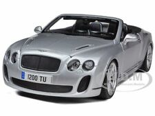 BENTLEY CONTINENTAL SUPERSPORTS CONVERTIBLE SILVER 1/18 CAR BY BBURAGO 11035